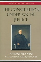 The Constitution Under Social Justice | Antonio Rosmini |