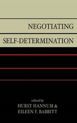 Negotiating Self-Determination | auteur onbekend |