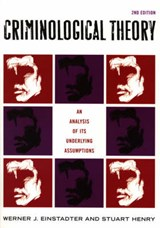 Criminological Theory | Werner J. Einstadter |