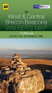 Walker's Map 18 Brecon Beacons 1 :