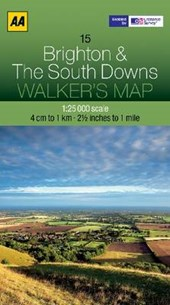 Walker's Map 15 Brighton & Downs 1 :