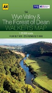 Walker's Map 14 Wye Valley The Forest of Dean 1 :