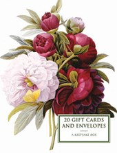 Tin Box of 20 Gift Cards and Envelopes: Peony