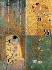 Set of Four Magnetic Notepads: KLIMT