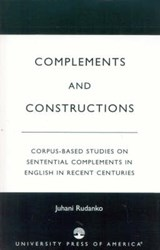 Complements and Constructions | Juhani Rudanko |