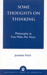 Some Thoughts on Thinking | Jonathan Finch |