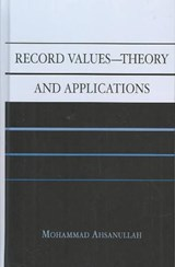 Record Values Theory and Applications | Mohammad Ahsanullah |