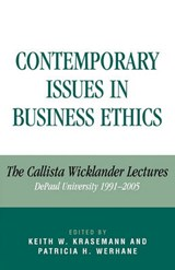Contemporary Issues in Business Ethics | Keith Krasemann |