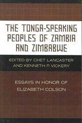 The Tonga-Speaking Peoples of Zambia and Zimbabwe | auteur onbekend |