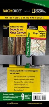 Falcon Guide Best Easy Day Hikes Sequoia and King Canyon National Park Hiking Guide & Trail Map Bundle