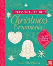 Press Out + Color Christmas Ornaments
