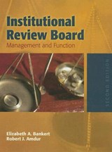 Institutional Review Board | BANKERT,  Elizabeth A. |