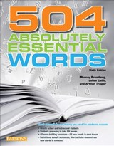 504 Absolutely Essential Words | Bromberg, Murray ; Liebb, Julius ; Traiger, Arthur |