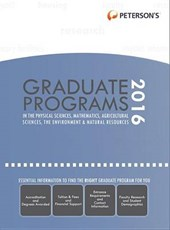 Graduate Programs in Physical Sciences, Mathematics, Agricultural Sciences, Environment & Natural Resources