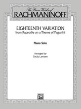 Eighteenth Variation from Rhapsodie on a Theme of Paganini Solo Piano |  |