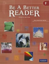 Be a Better Reader Level F Student Worktext |  |