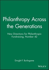 Philanthropy Across the Generations | Dwight F. Burlingame |