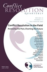 Conflict Resolution in the Field: Assessing the Past, Charting the Future | Tricia S. Jones |