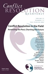 Conflict Resolution in the Field: Assessing the Past, Charting the Future