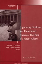 Supporting Graduate and Professional Students: The Role of Student Affairs