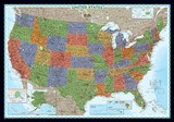 United States Decorator [Laminated] | National Geographic Maps  Reference |