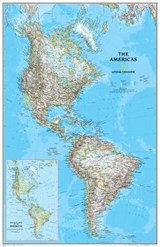 The Americas Classic [Laminated] | National Geographic Maps  Reference |