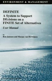 Definite a System to Support Decisions on a Finite Set of Alternatives User Manual
