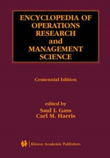 Encyclopedia of Operations Research and Management Science | auteur onbekend |