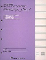 Bass Guitar Tablature Manuscript Paper | auteur onbekend |