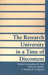 The Research University in a Time of Discontent | Cole |