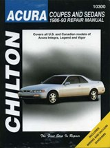 Acura Coupes and Sedans, 1986-93 1986-93 Repair Manual | Chilton Automotive Books |