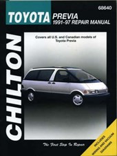Chilton's Toyota Previa 1991-97 Repair Manual