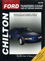 Chilton's Ford Thunderbird/Cougar 1983-97 Repair Manual | Chilton |