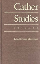 Cather Studies, Volume |  |