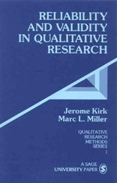 Reliability and Validity in Qualitative Research | Jerome Kirk |