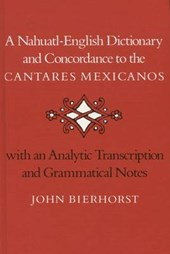 A Nahuatl-English Dictionary and Concordance to the 'Cantares Mexicanos'