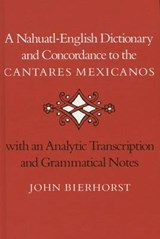 A Nahuatl-English Dictionary and Concordance to the 'Cantares Mexicanos' | John Bierhorst |