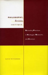 Philosophy, Revision, Critique | David H. Wittenberg |