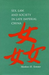 Sex, Law, and Society in Late Imperial China