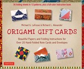 Origami gift cards kit