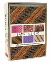 Batik designs 6 notecards & envelopes