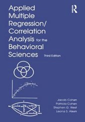 Applied Multiple Regression/Correlation Analysis for the Behavioral Sciences | Cohen & West & Aiken |