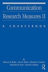 Communication Research Measures II | Rebecca B.; Rubin |