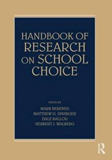 Handbook Of Research On School Choice | Mark Berends |