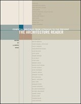 The Architecture Reader | auteur onbekend |