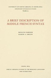 A Brief Description of Middle French Syntax