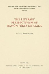 The Literary Perspectivism of Ramon Perez de Ayala