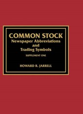 Common Stock Newspaper Abbreviations and Trading Symbols, Supplement One