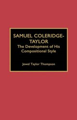 Samuel Coleridge-Taylor | Jewel Taylor Thompson |