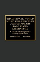 Traditional World Music Influences in Contemporary Solo Piano Literature | Elizabeth C. Axford |